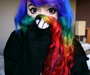 rainbow and hair image