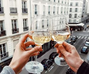 wine, couple, and travel image