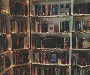 book shelves, bookworm, and bookish image