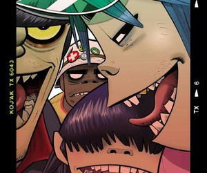 gorillaz, russel, and murdoc image