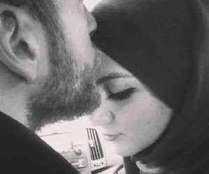 couple, Relationship, and hijab image