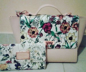 bag, flower, and spring image