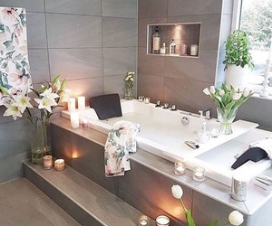 bathroom and flowers image