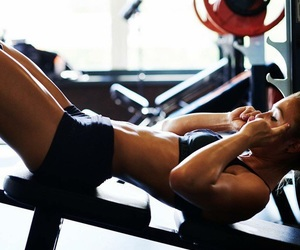 fitness, girl, and abs image