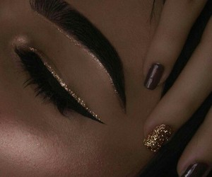 eyebrows, fashion, and glam image