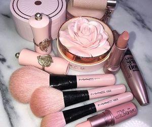 makeup, pink, and mac image