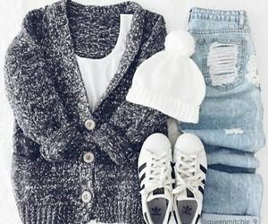 adidas, cardigan, and chic image
