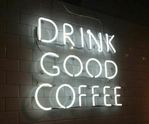 coffee, light, and neon image