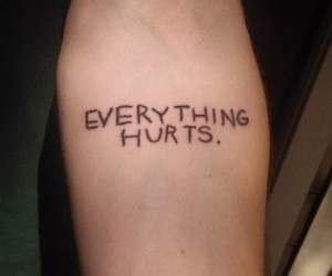 tattoo, quotes, and hurt image