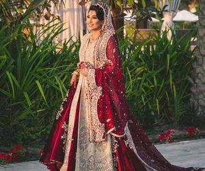 bride, wedding, and pakistani image