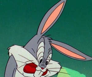 aesthetic, bugs bunny, and green image