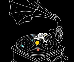 music, galaxy, and planet image
