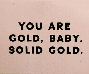 baby, gold, and words image
