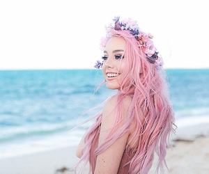 pink hair, youtuber, and hailie barber image