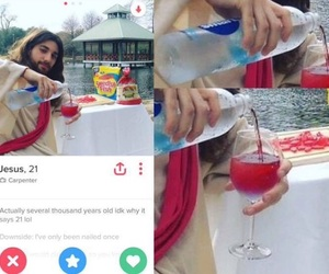 dating, funny, and tinder image