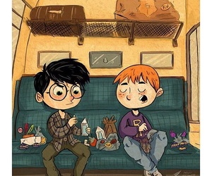 harry potter, book, and friendship image