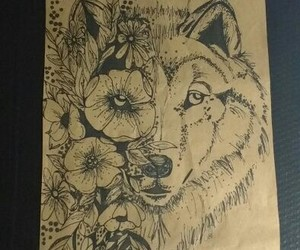 arte, wolf, and moon image