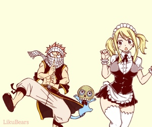 happy, fairy tail, and Lucy image