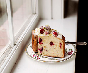cake, cranberry, and food image