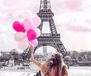 balloon, girls, and pink image