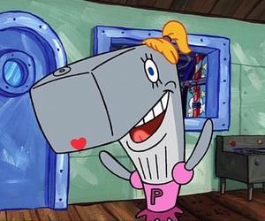 pearl, spongebob, and spongebob squarepants image