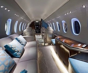 luxury, airplane, and travel image