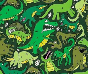 wallpaper, dinosaur, and pattern image