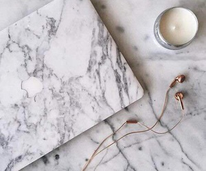 marble, macbook, and apple image