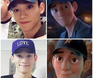 exo, Chen, and funny image