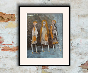 abstract art, outsider art, and women image