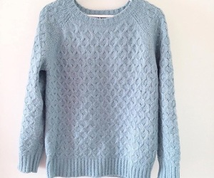 baby blue, cozy, and fashion image