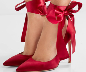 fashion, pumps, and ribbon image