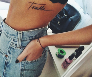 tattoo, girl, and truth image