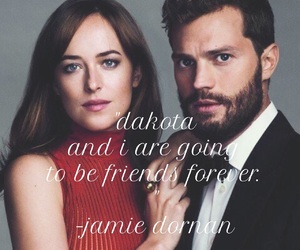 easel, Jamie Dornan, and dakota johnson image
