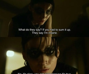 rooney mara, lisbeth salander, and david fincher image