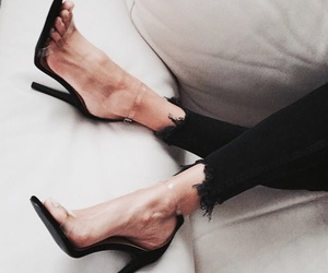 heels, sofa, and classycgal image