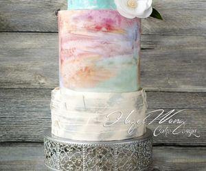 cake, design, and pastel image