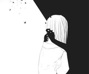 anime, black and white, and Darkness image