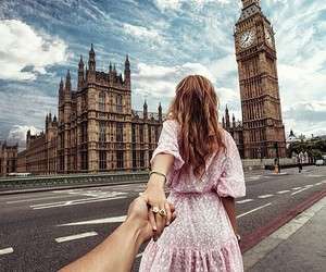 london, travel, and couple image