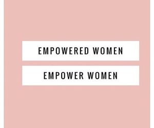 women, pink, and empowered image
