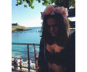 bruna marquezine, girl, and flowers image
