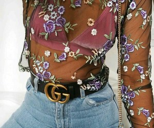 gg, flowers, and gucci image