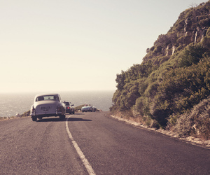 car, road, and vintage image