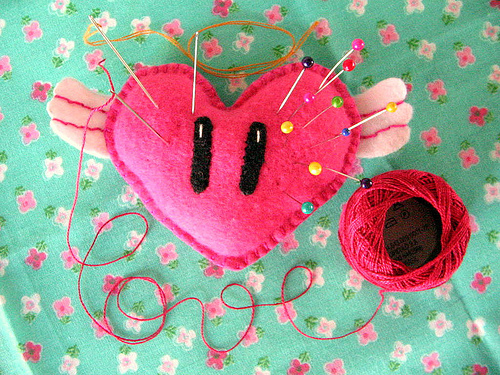 heart, pins, and crafts image