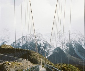 nature, mountains, and bridge image