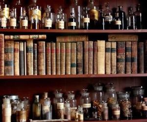book, potion, and magic image