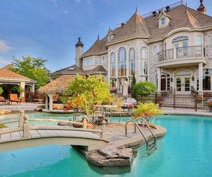 pool, house, and mansion image