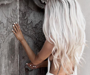 hair, white, and blonde image
