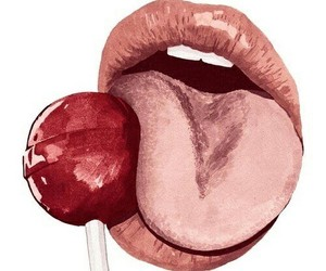 art, lips, and lollipop image