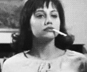 blackandwhite, girl interrupted, and smoking image